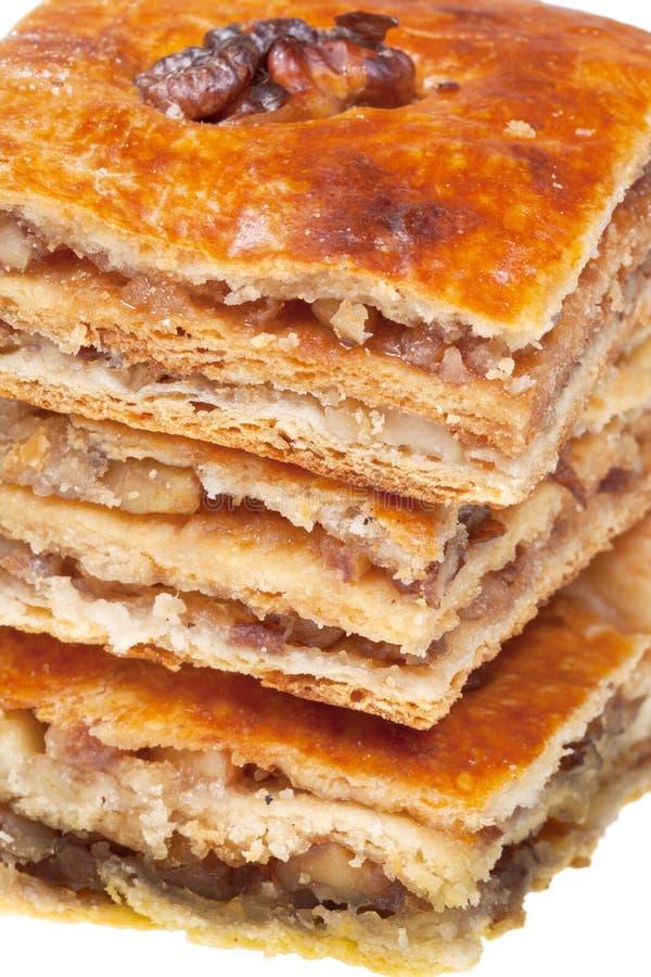 Het zoete dessert van Pakhlava stock afbeelding