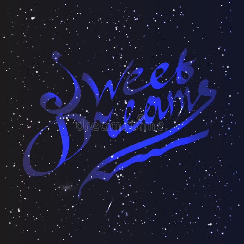 Het zoete dromen van letters voorzien stock illustratie