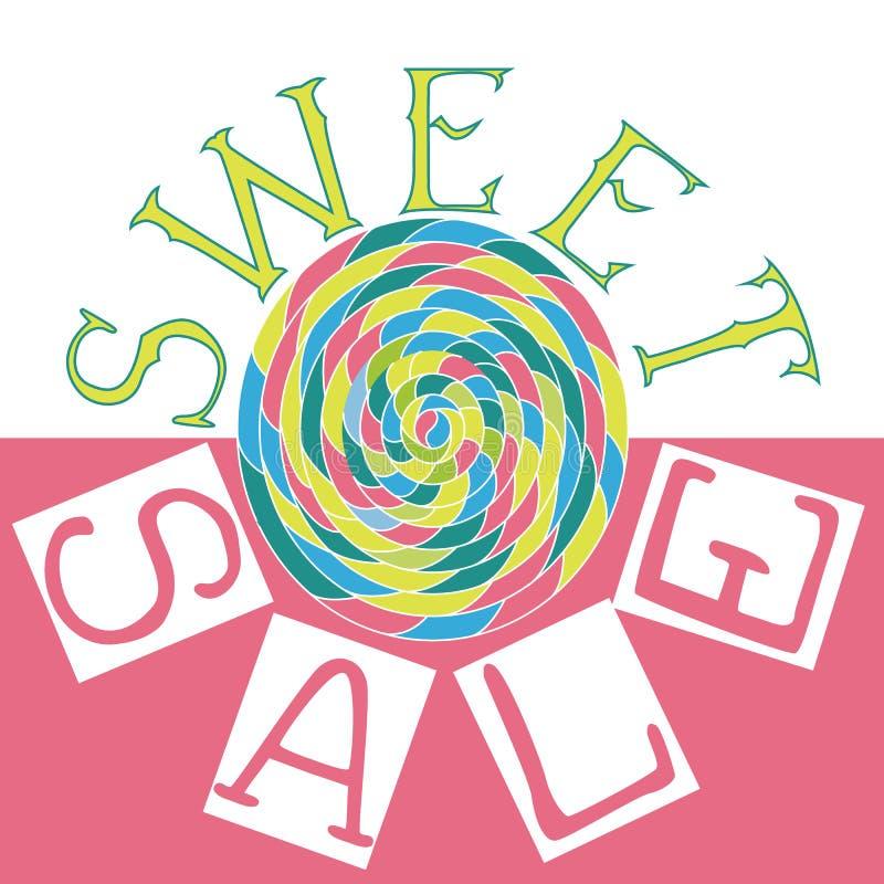 Het zoete verkoop van letters voorzien vector illustratie