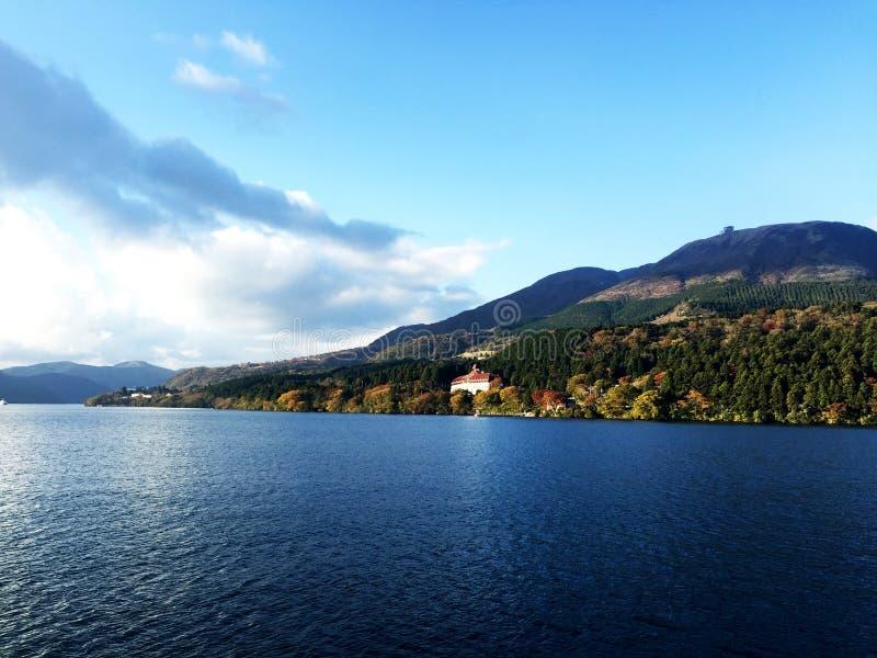Het zonlicht van de de bergwolk van de meerhemel royalty-vrije stock fotografie