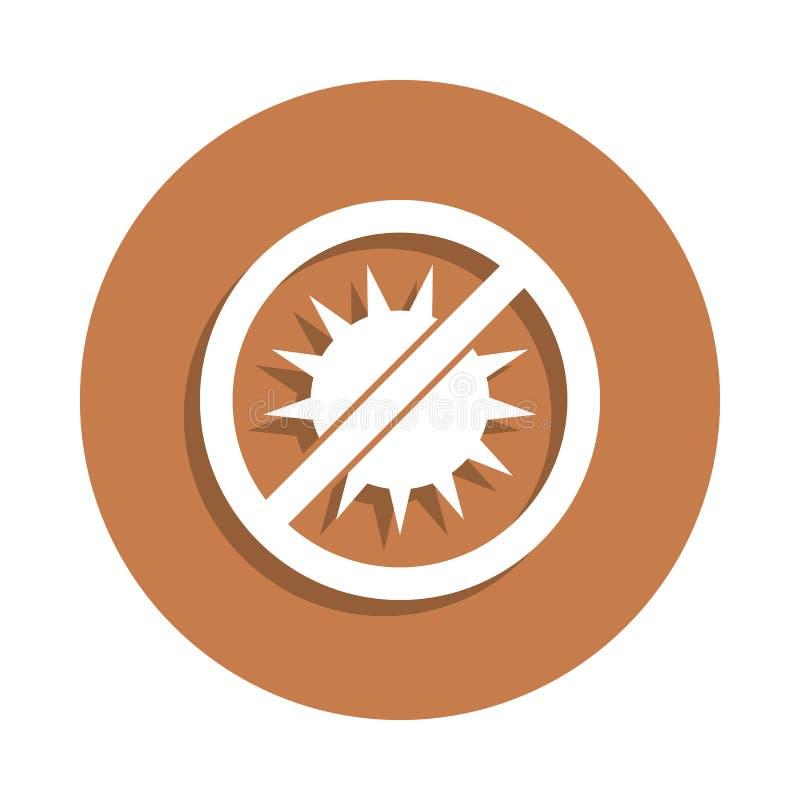 het zonlicht is verboden pictogram in kentekenstijl Één van logistisch inzamelingspictogram kan voor UI, UX worden gebruikt vector illustratie