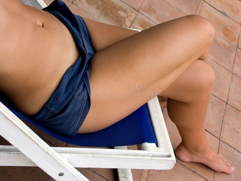 Het zonnebaden stock fotografie