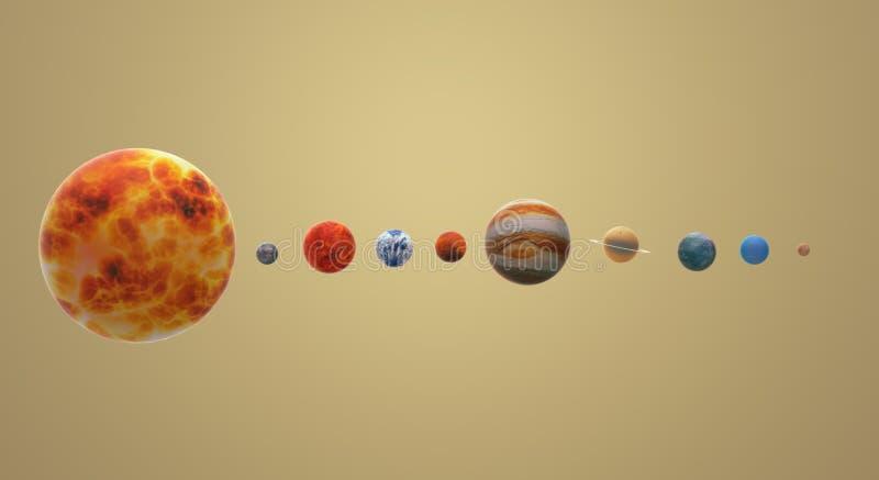 Het zonneheelal 3d teruggeven voor wetenschap of onderwijsinhoud vector illustratie