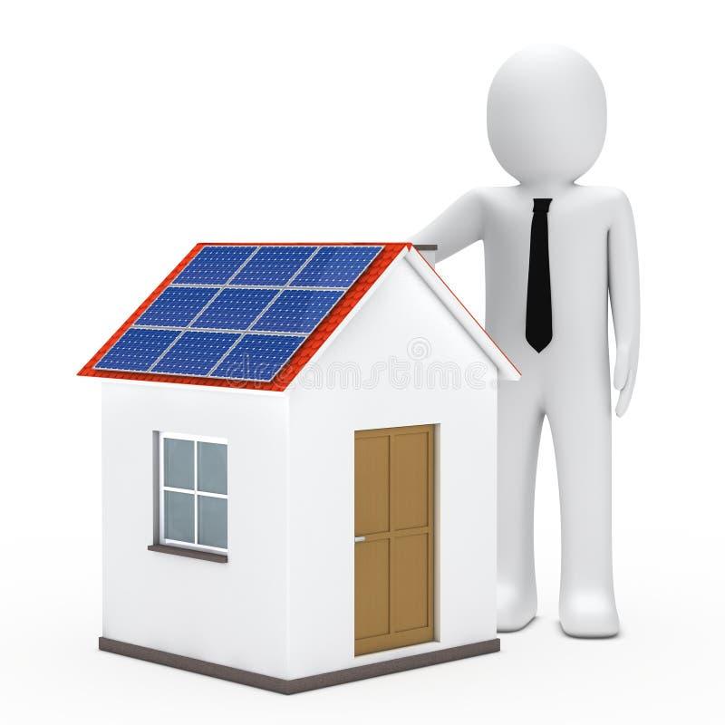 Het zonnehuis van de zakenman vector illustratie