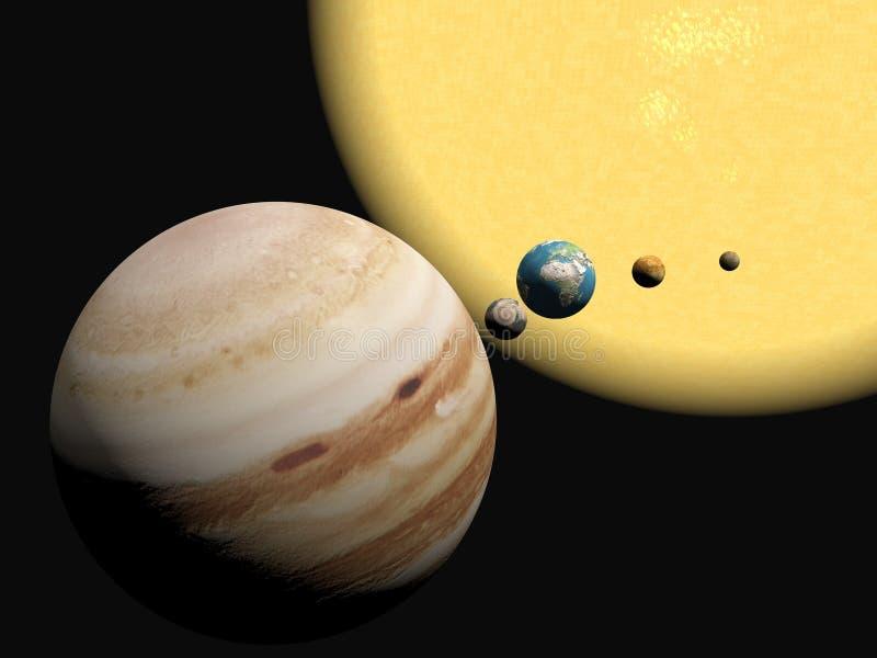 Het zonnestelsel, abstact presentatie. stock illustratie