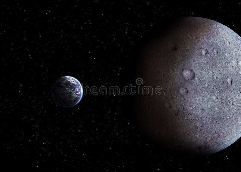 Het zonnestelselplaneten van de hoogtekwaliteit stock afbeeldingen