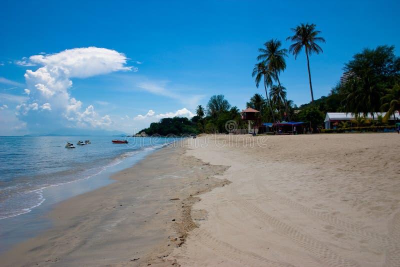Het Zonnige strand van Penang royalty-vrije stock foto's