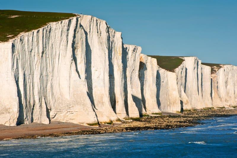 Het Zuiden van zeven Klippen van Zusters verslaat het landschap van Engeland stock fotografie