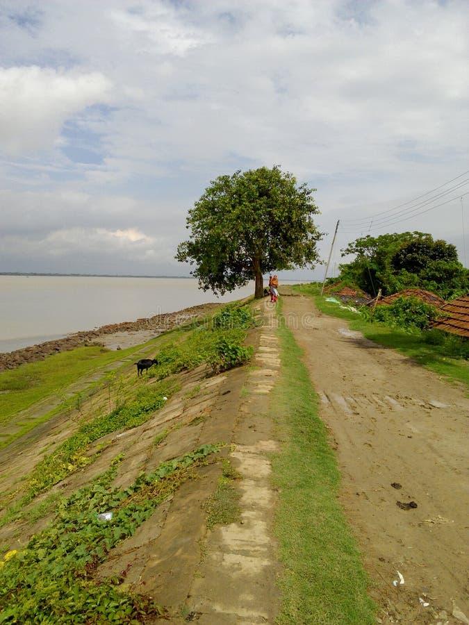 Het zuidoostenindia van de dorpsrivier royalty-vrije stock foto