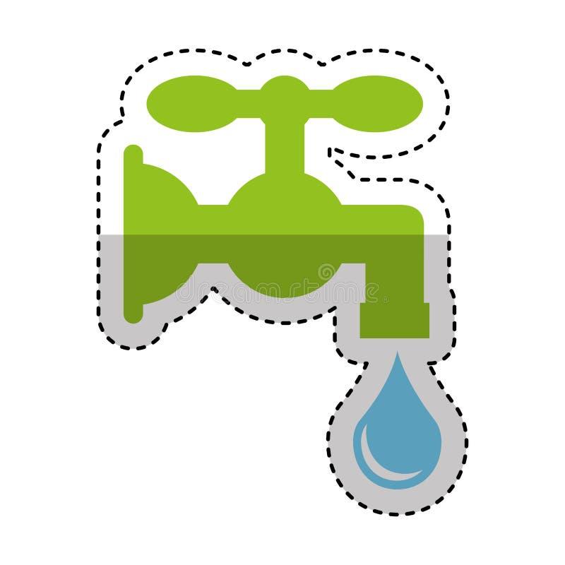 Het zuivere pictogram van de waterkraan stock illustratie