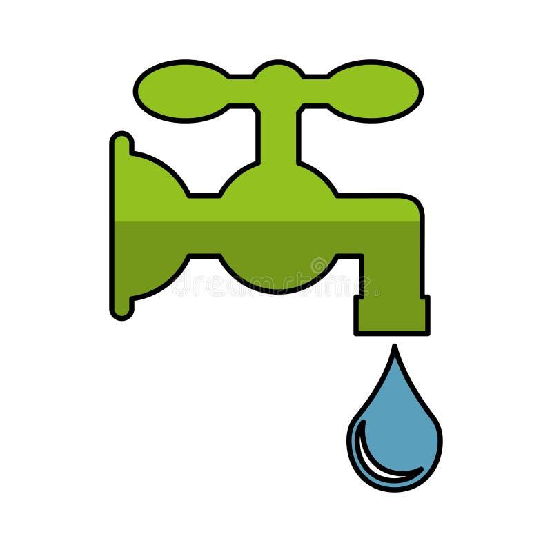 Het zuivere pictogram van de waterkraan royalty-vrije illustratie