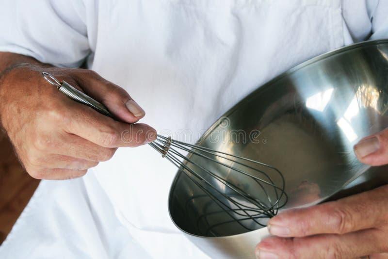 Het Zwaaien van de chef-kok stock fotografie