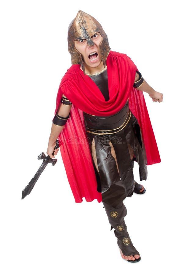 Het zwaard van de gladiatorholding stock foto's