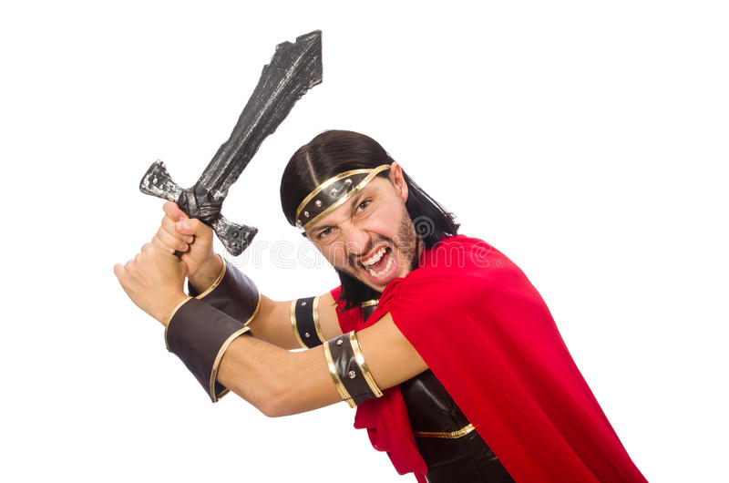 Het zwaard van de gladiatorholding stock foto