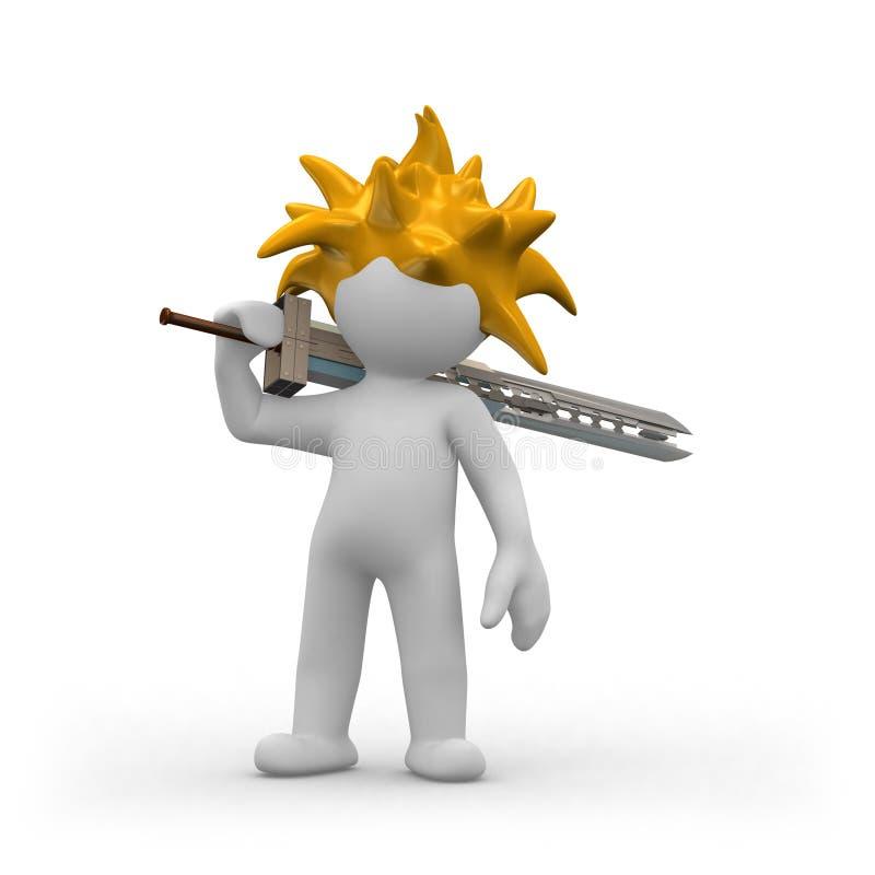 Het zwaard van Manga vector illustratie
