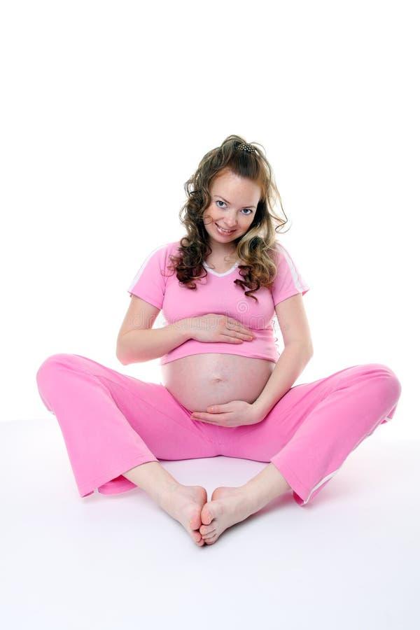Het zwangere wijfje royalty-vrije stock foto's
