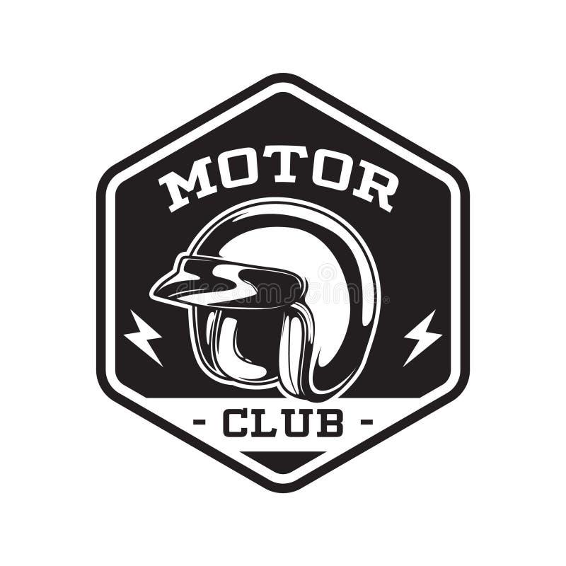 HET ZWART-WIT EMBLEEM VAN DE MOTORclub stock fotografie