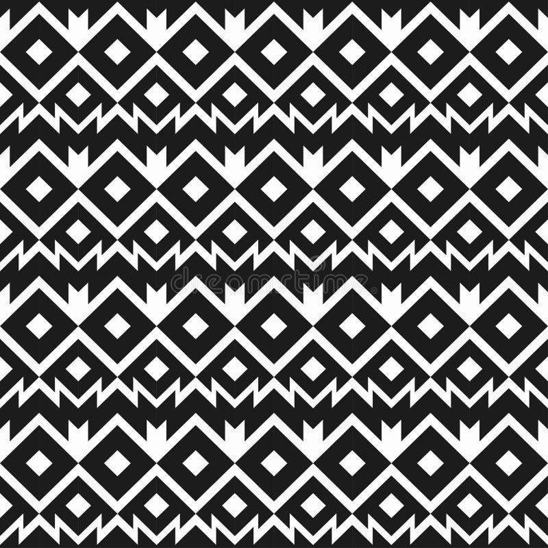 Het zwart-wit naadloze patroon van Mexico vector illustratie