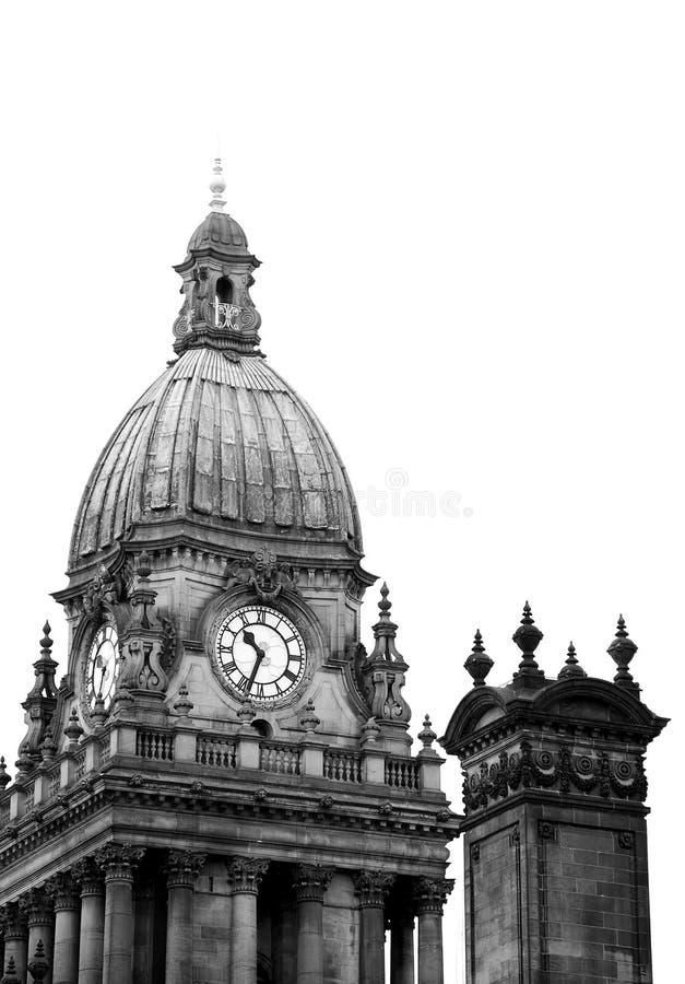 (Het zwart-wit) Stadhuis van Leeds stock foto