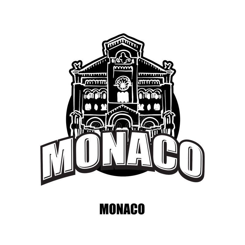 Het zwart-witte embleem van Monaco stock illustratie