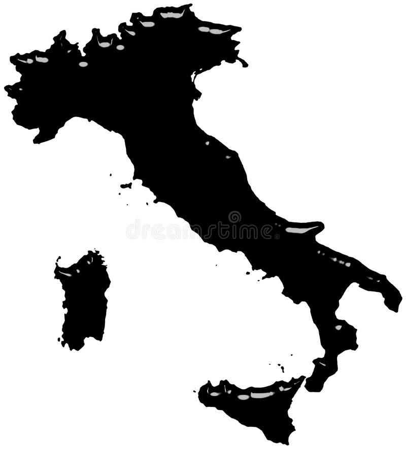 Het Zwart-witte Glas van Italië stock illustratie