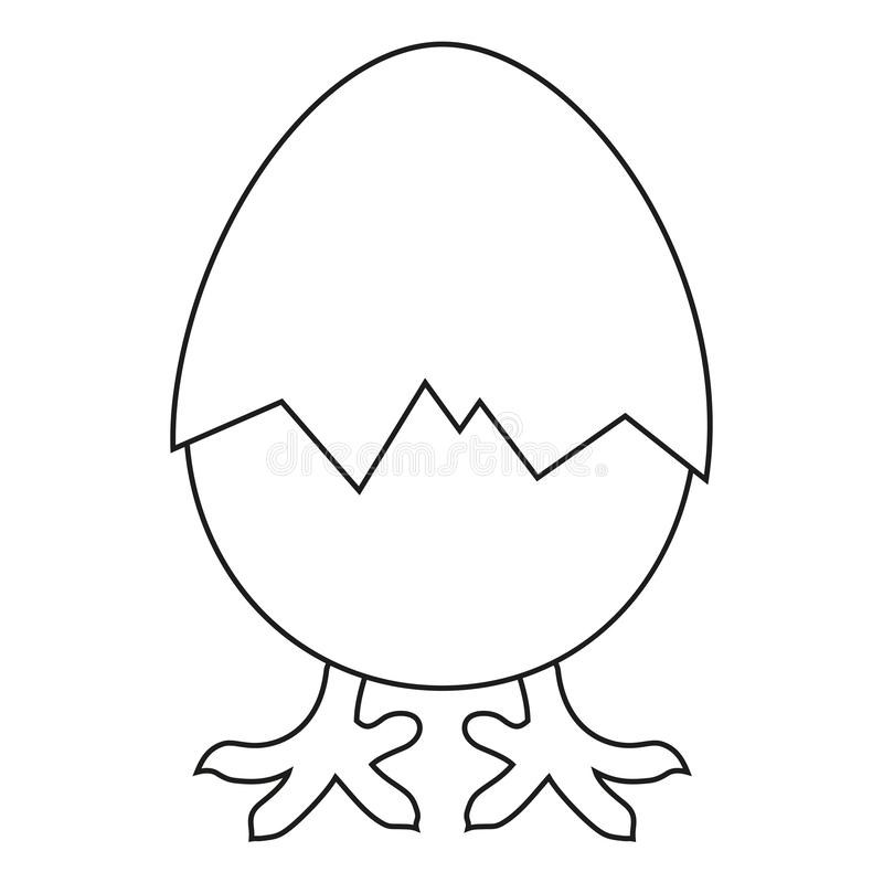 Is het zwart-witte nieuwe kuiken van de lijnkunst geboren vector illustratie
