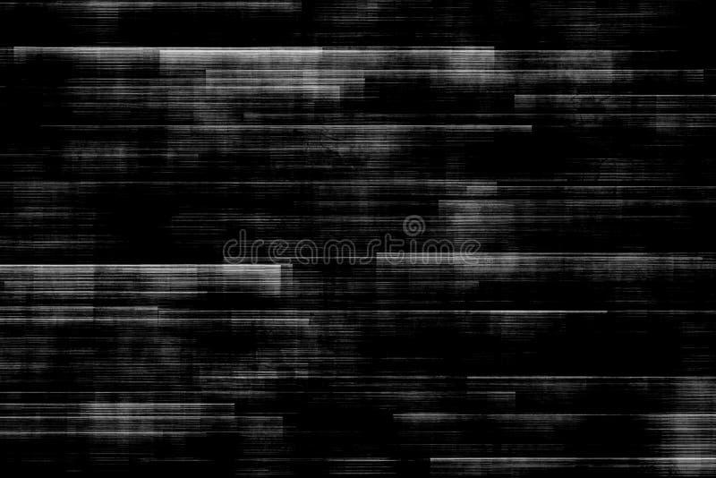 Het zwart-witte realistische trillen als achtergrond, analoog uitstekend TV-signaal met slechte interferentie, statische lawaaiac