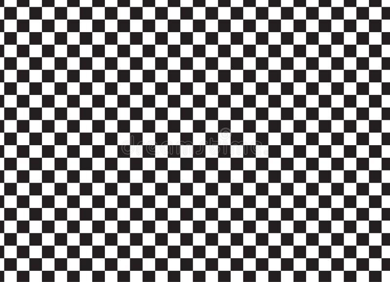 Het zwart-witte rennen en geruit patroon royalty-vrije illustratie