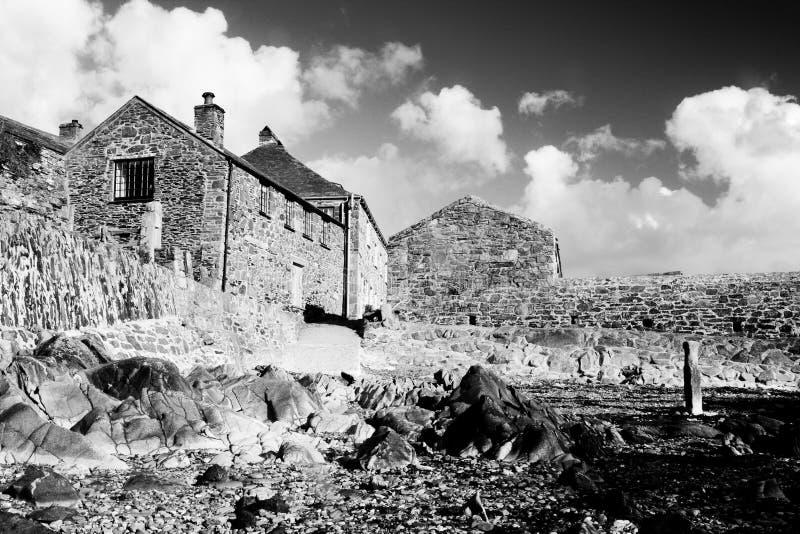 Het zwarte & Witte dorp royalty-vrije stock afbeeldingen