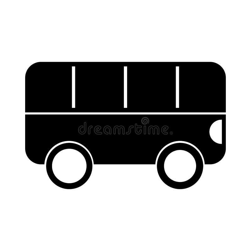 Het zwarte beeldverhaal van de pictogrambus stock illustratie