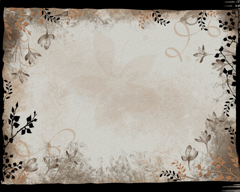 Het zwarte BloemenFrame van de Grens stock illustratie