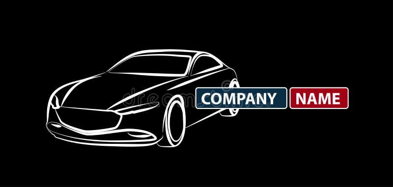 Het zwarte Creatieve vectorpictogram van autologo design, het Autopictogram van het autoembleem Logotype, automobielembleem stock illustratie