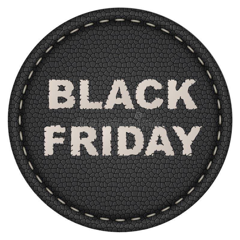 Het zwarte etiket van de vrijdagverkoop stock illustratie