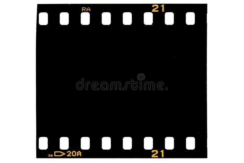 Het zwarte frame van de film, royalty-vrije stock foto's