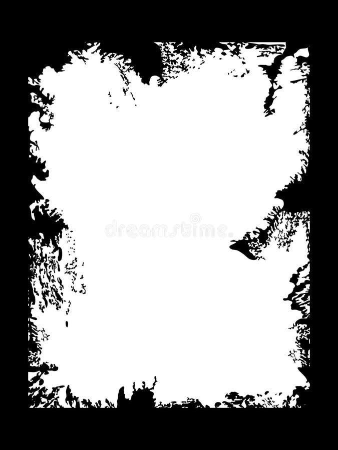 Het zwarte frame van Grunge stock illustratie