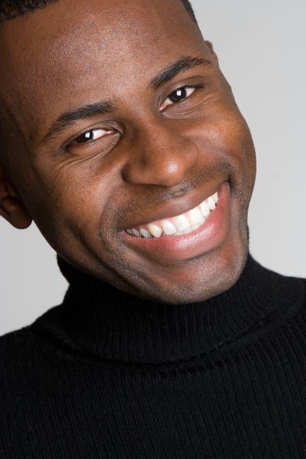 Het zwarte Glimlachen van de Mens stock afbeeldingen