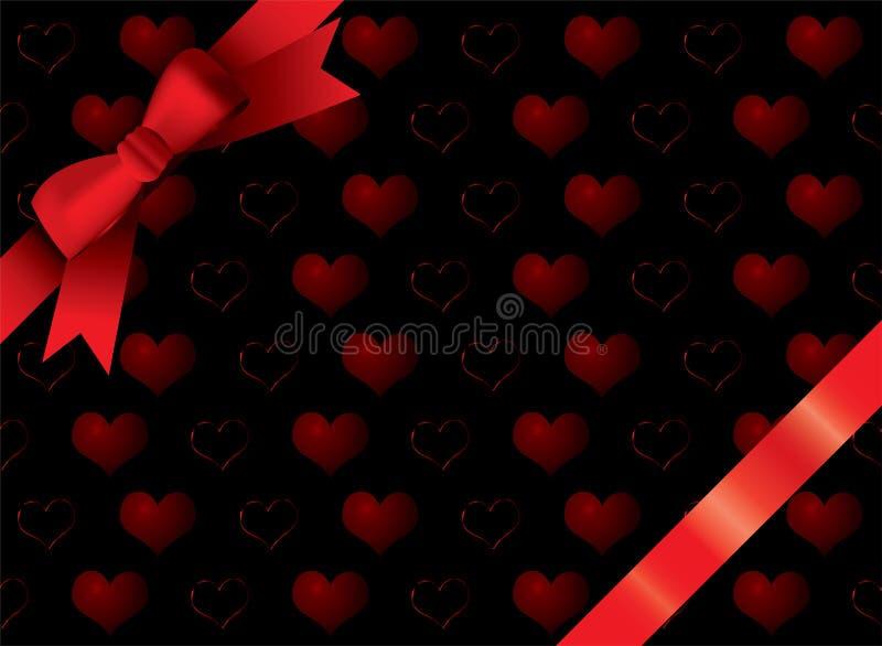 Het zwarte hart van het lint stock illustratie