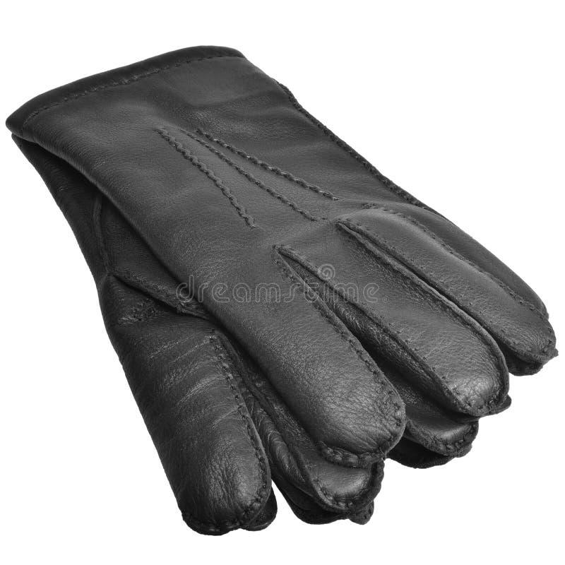 Het zwarte Mensenhert Gloves van de Korrelherten van Grote de Gedetailleerde Geïsoleerde Mensen Fijne van de het Leerhandschoen T royalty-vrije stock fotografie