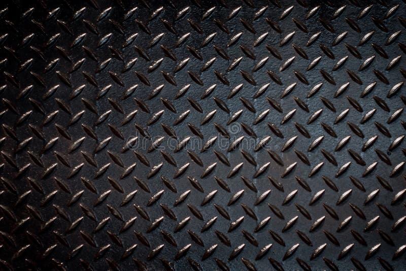 Het zwarte metaal van de verftextuur, hiaten sluit omhoog royalty-vrije stock afbeeldingen