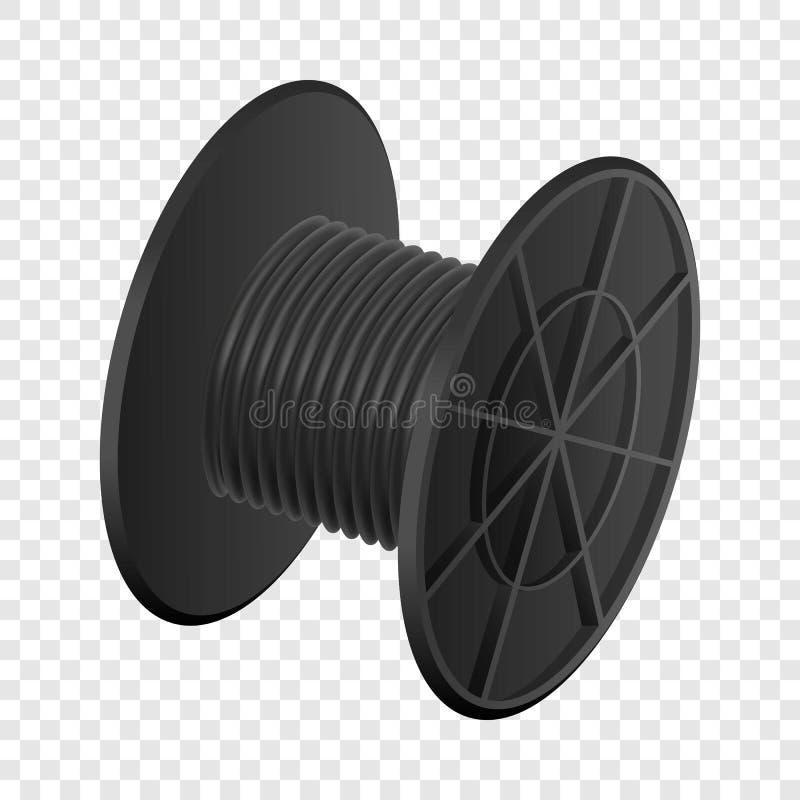 Het zwarte model van de kabelrol, realistische stijl royalty-vrije illustratie
