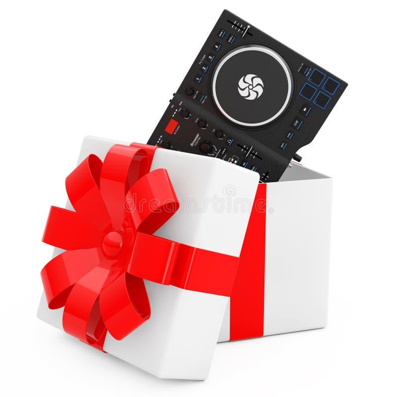 Het zwarte Moderne Materiaal van de de Draaischijfmixer van DJ Vastgestelde komt uit Gi royalty-vrije illustratie