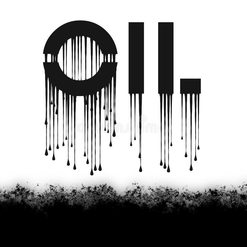 Het zwarte Olie druipen vector illustratie