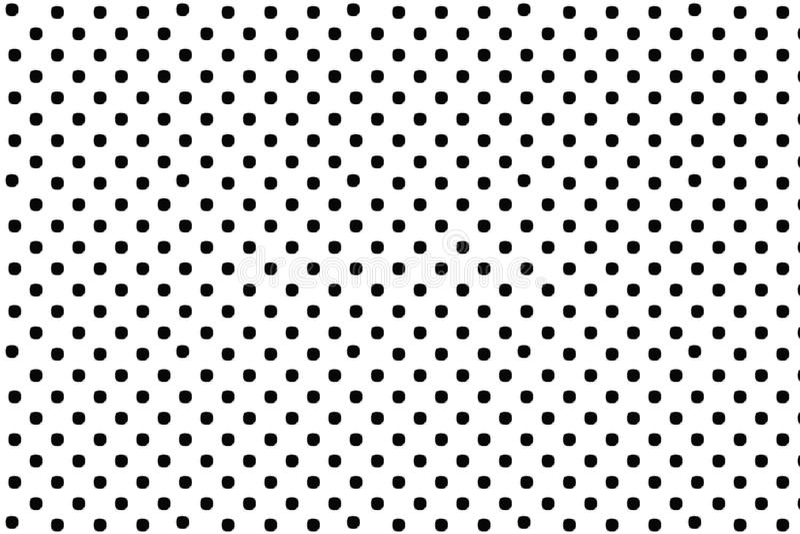 Het zwarte patroon van de stippen digitale creatieve abstracte textuur op witte achtergrond Het element van het ontwerp royalty-vrije illustratie