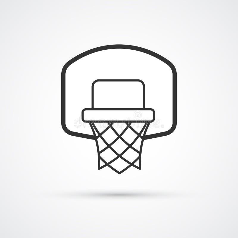 Het zwarte pictogram van de basketbalmand Vector illustratie EPS10 royalty-vrije illustratie