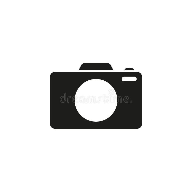 Het zwarte pictogram van de camerafoto stock illustratie