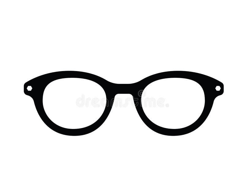 Het zwarte pictogram van het glazen klassieke retro ontwerp stock illustratie