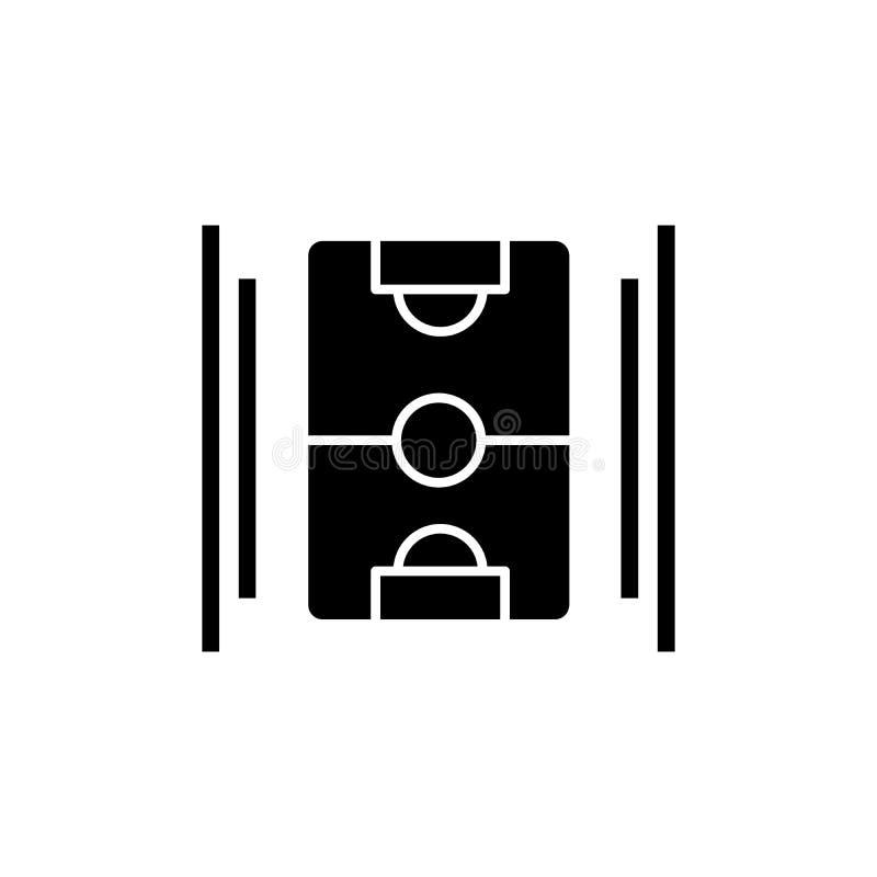 Het zwarte pictogram van het hockeygebied, vectorteken op geïsoleerde achtergrond Het conceptensymbool van het hockeygebied, illu royalty-vrije illustratie
