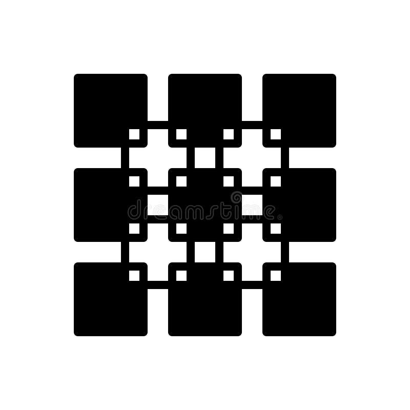 Het zwarte stevige pictogram voor Join, verenigt zich en verbindt vector illustratie