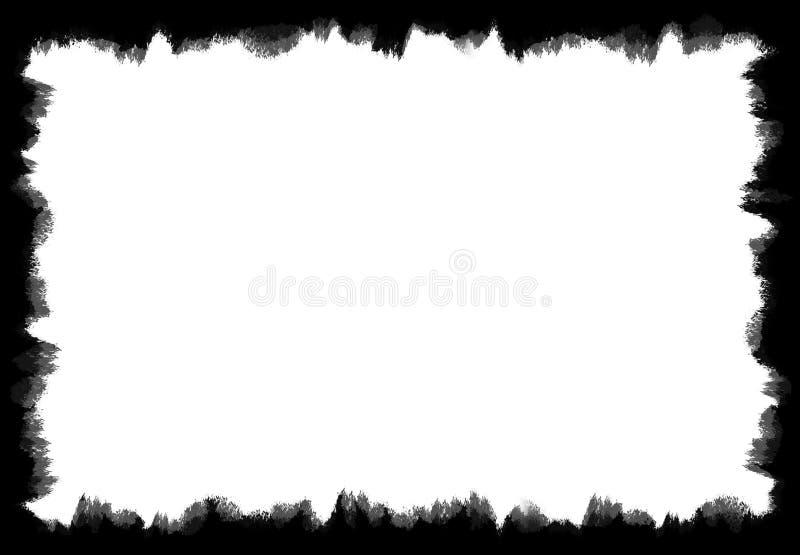 Het zwarte Vuile en Versleten Kader van Grunge royalty-vrije stock afbeeldingen