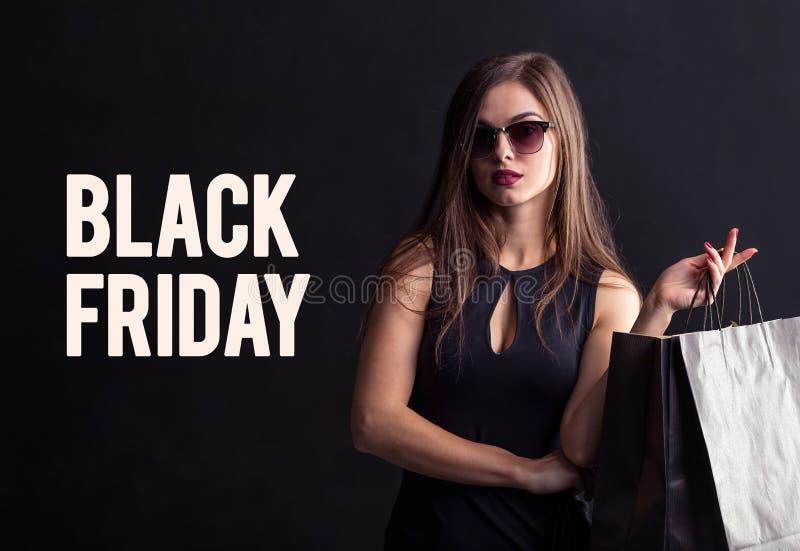 Het zwarte winkelen van de Vrijdag stock foto's